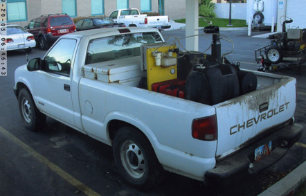 Truck mounted fogger for mosquitoes
